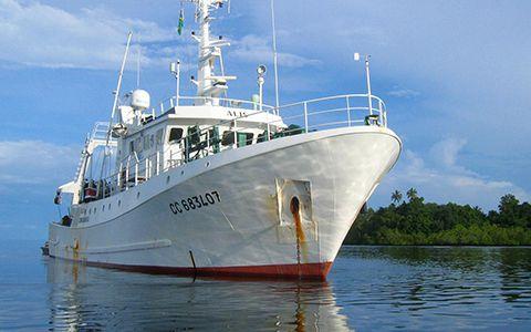 Navire océanographique l'Alis © Anders Waren / MNHN