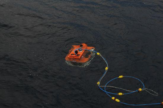 Le ROV prêt à descendre © Elise Trinquet / MNHN / CNRS / Univ Montpellier