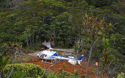 Rotation en hélicoptère © Olivier Gargominy / MNHN